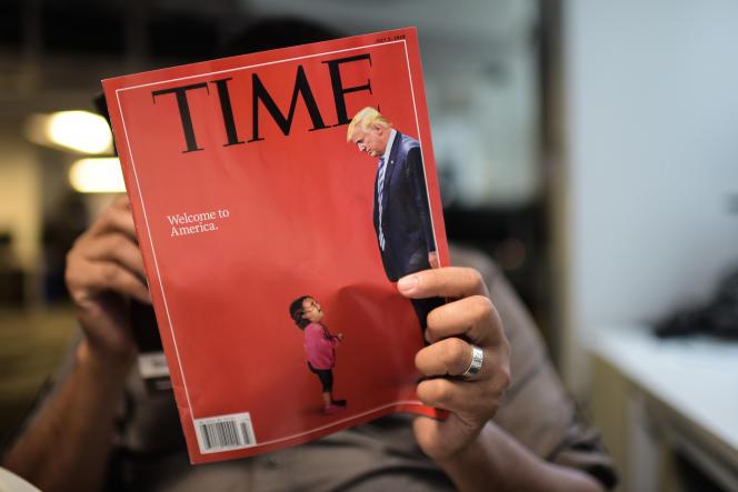 Un exemplaire du Time Magazine, en juin.