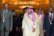 Le roi Salman d'Arabie saoudite (au centre), entouré du premier ministre éthiopien Abiy Ahmed (à droite) et du président érythréen Isaias Afwerki, à Jeddah, le 16 septembre 2018.