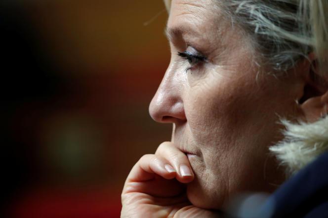 Marine Le Pen à l'Assemblée nationale, le 18 septembre 2018.