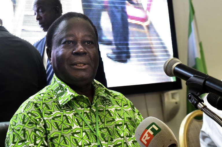 L'ancien président de la Côte d'IvoireHenri Konan Bédié, à Abidjan, le 17 juin 2018.