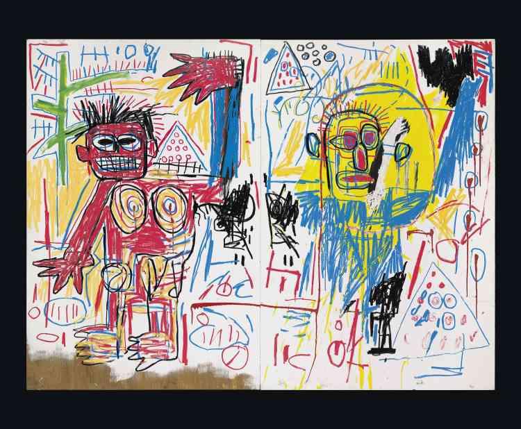 «La dualité est un principe fondamental dans l'art de Basquiat, exprimée le plus souventpar des personnages opposés, de la représentation du Christ aux figures démoniaques. Juxtaposées les unes contre les autres, les images sont saturées de couleurs et de symboles abstraits. Basquiat crée, par ce principe, une véritable tension dans ses toiles : il suggère que chaque élément conditionne l'autre, ce qui aboutit à la création de l'ensemble.»