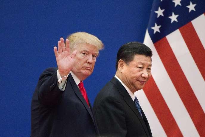 Le président américain, Donald Trump, et le président chinois, Xi Jiping, le 9 novembre 2017, à Pékin.
