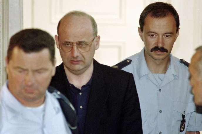 Jean-Claude Romand lors de son procès, en 1996.