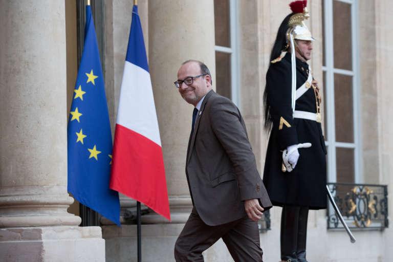Rémy Rioux, directeur général de l'Agence française de développement, arrivant à l'Elysée, le 10 avril 2018.