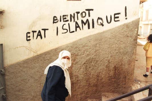 Dans la casbah d'Alger, en février 1992.