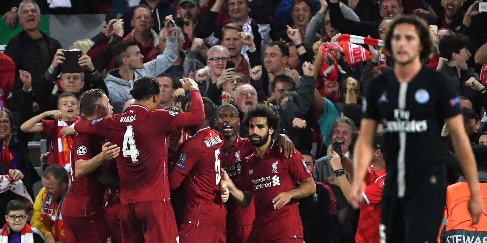 La joie des Reds face à Paris.