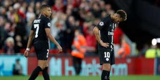 La déception de Neymar et Mbappé après la défaite.