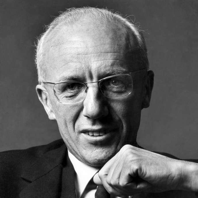 François Bloch-Lainé (ici en mai 1970) fut le premier président du Bureau d'informations et de prévisions économiques (BIPE).