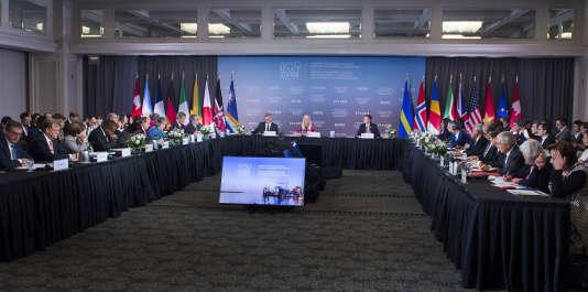 La réunion G7 environnement, océans et énergie, à Halifax, au Canada, le 19 septembre.