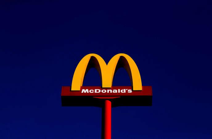 Un McDonald's à Leeuw-Saint-Pierre, près de Bruxelles, en Belgique, le 14 février.