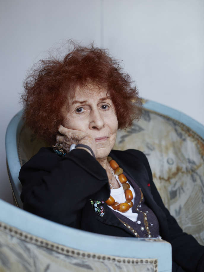 Marceline Loridan-Ivens, chez elle à Paris, le 12 janvier 2018.