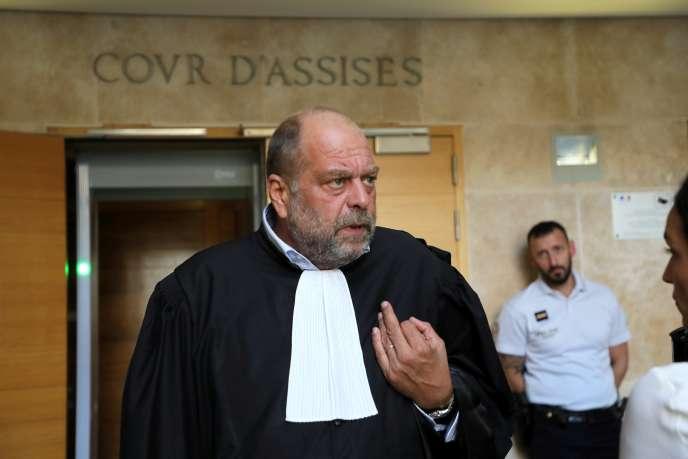 Eric Dupond-Moretti, l'avocat du gendre d'Hélène Pastor, le 17 septembre à Aix-en-Provence.