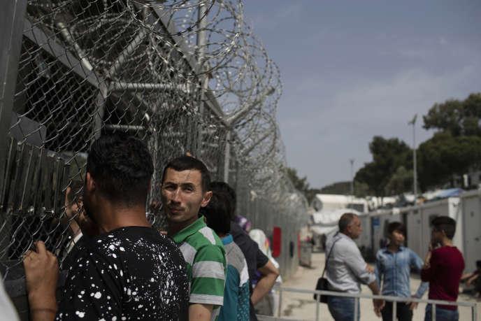 Dans le camp de réfugiés de Moria, en Grèce, en mai 2018.