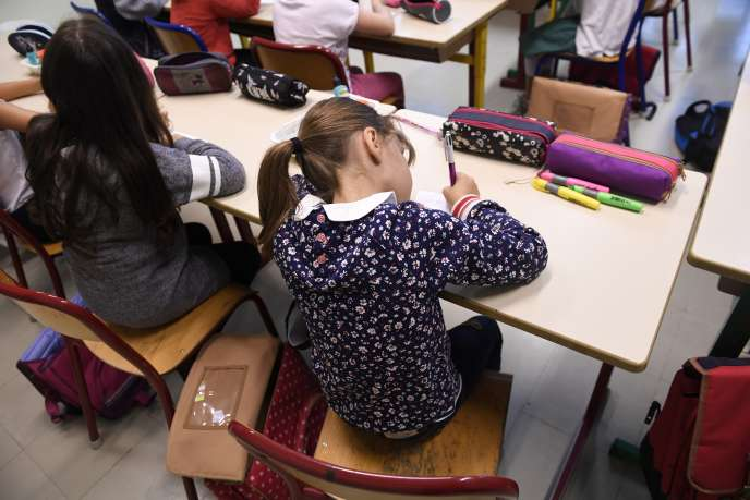 Rentrée des classes dans une école primaire de Quimper, en septembre 2017.