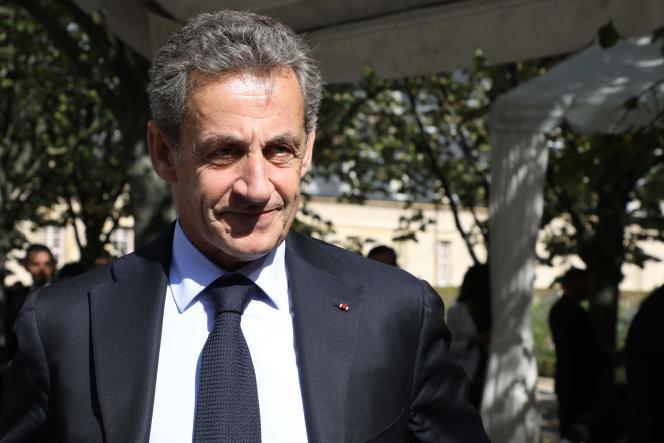 L'ancien président de la République Nicolas Sarkozy le 19 septembre à Paris.
