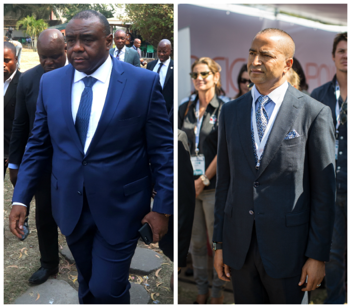 Jean-Pierre Bemba (à gauche) et Moïse Katumbi.