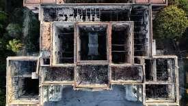 Le Musée national de Rio de Janeiro, vu du ciel, le 3 septembre, après l'incendie.