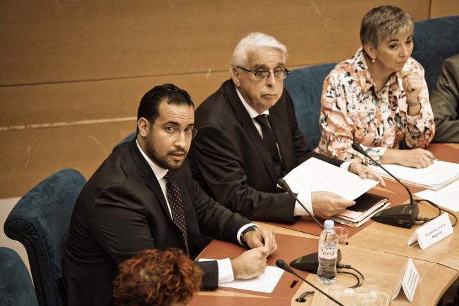 Alexandre Benalla lors de son audition devant la commission des lois du Sénat, le 19 septembre.