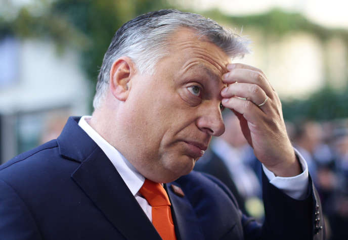 Le premier ministre hongrois, Viktor Orban, intervient lors de la réunion informelle des dirigeants de l'Union européenne, à Salzbourg, en Autriche, le 20 septembre.