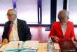 Le président de la Commission européenne, Jean-Claude Juncker, et la première ministre britannique, Theresa May, le 20 septembre, àSalzbourg (Autriche).