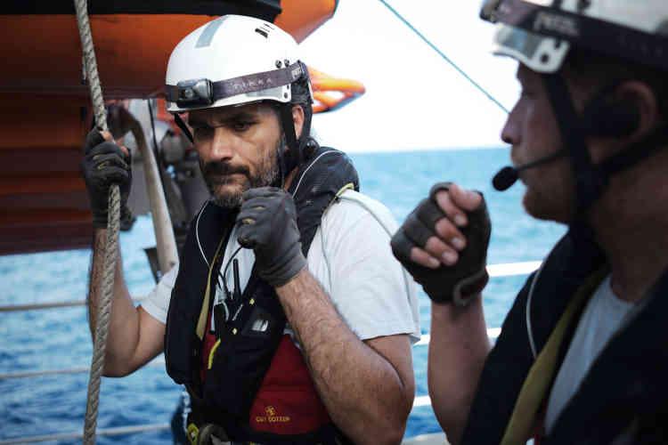 Rocco Aiello, sauveteur pour SOS Méditerranée, après l'opération.