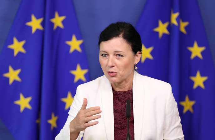 Vera Jourova, commissaire européenne aux consommateurs, à Bruxelles, le 20septembre.