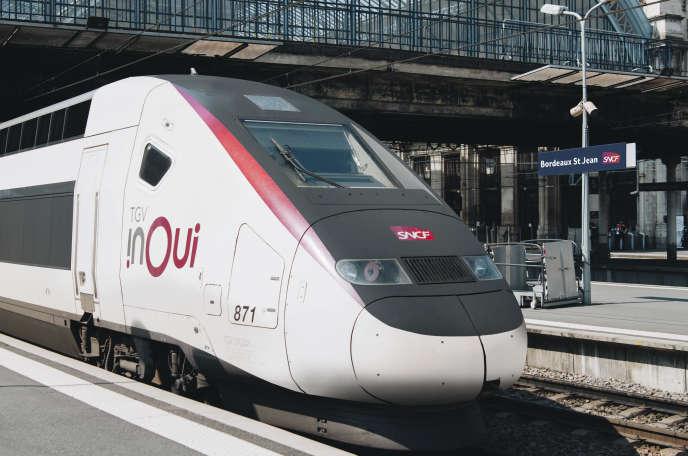 Un TGV inOui, à Bordeaux.