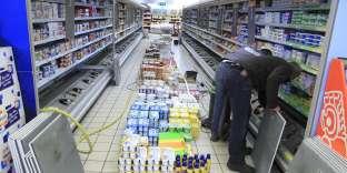 Rayon frais d'un supermarché