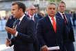 Le premier ministre hongrois, Viktor Orban, et Emmanuel Macron, à Salzbourg, en Autriche, le 20 septembre.