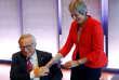 Le président de la Commission européenne, Jean-Claude Juncker, et la première ministre britannique, Theresa May, lors du sommet de Salzbourg le 20 septembre.