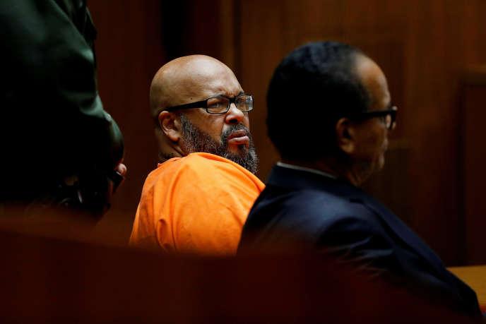Marion «Suge» Knight et son avocat, Albert DeBlanc, devant la cour de justice de Los Angeles, le 20 septembre 2018.