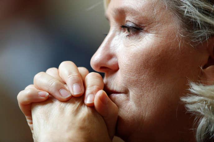 Marine Le Pen, à l'Assemblée nationale, le 18 septembre.