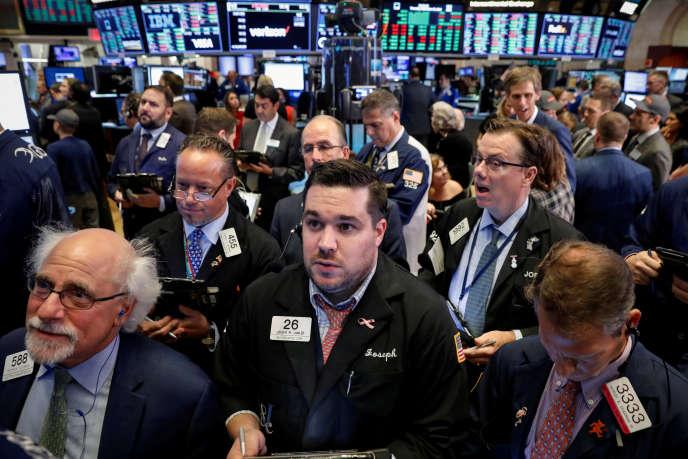 La salle des marchés de la Bourse de New York, le 20 septembre.
