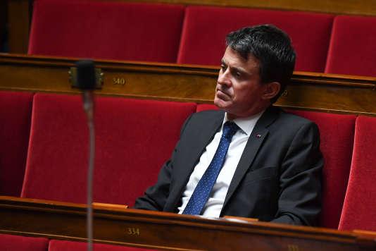 Le député de l'Essonne Manuel Valls, le 19 juin à l'Assemblée nationale.