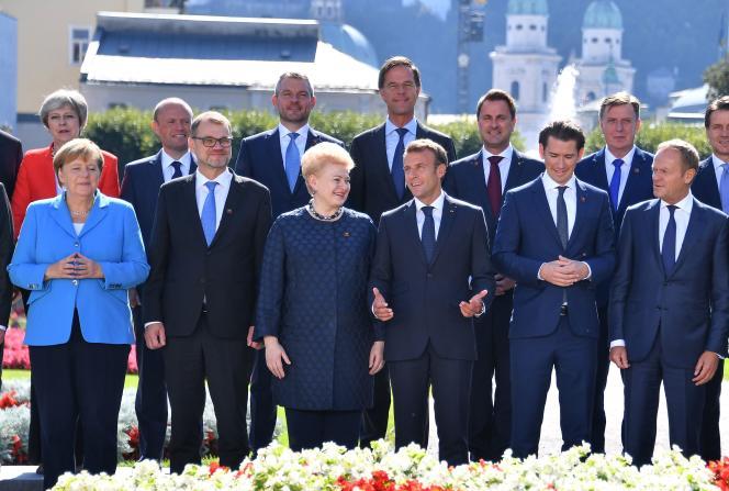 Au sommet informel de Salzbourg (Autriche), vendredi 21 septembre.