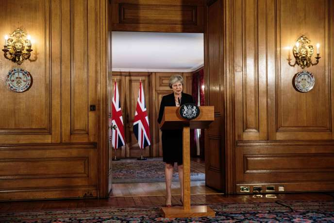 Theresa May au 10 Downing Street, à Londres, le 21 septembre 2018.