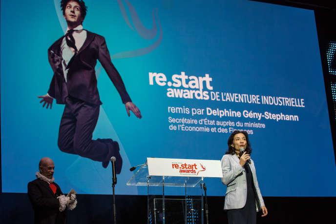 Delphine Gény-Stephann, secrétaire d'Etat auprès du ministre de l'économie, lors de la remise des ReStart Awards, à Paris, le 20 septembre.