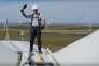 Jeff Bezosinaugure le parc d'éoliennes Amazon Wind Farm Texas, le 19 octobre 2017.