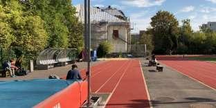 Terrain d'athlétisme à la faculté de Staps de l'université Paris-Descartes, en septembre 2018.