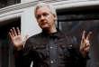 Julian Assange au balcon de l'ambassade equatorienne à Londres, le 19 mai 2017.