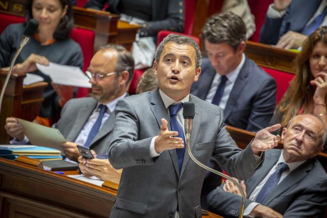 Gérald Darmanin, ministre de l'action et des comptes publics, à l'Assemblée nationale, le 12 septembre.