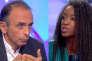 Le polémiste Eric Zemmour et la chroniqueuse Hapsatou Sydans l'émission « Les Terriens du dimanche », sur C8, le 16 septembre.