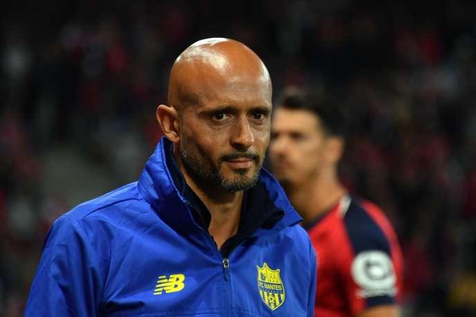 L'entraîneur du FC Nantes, Miguel Cardoso, le 22 septembre au stade Pierre-Mauroy de Villeneuve-d'Ascq.