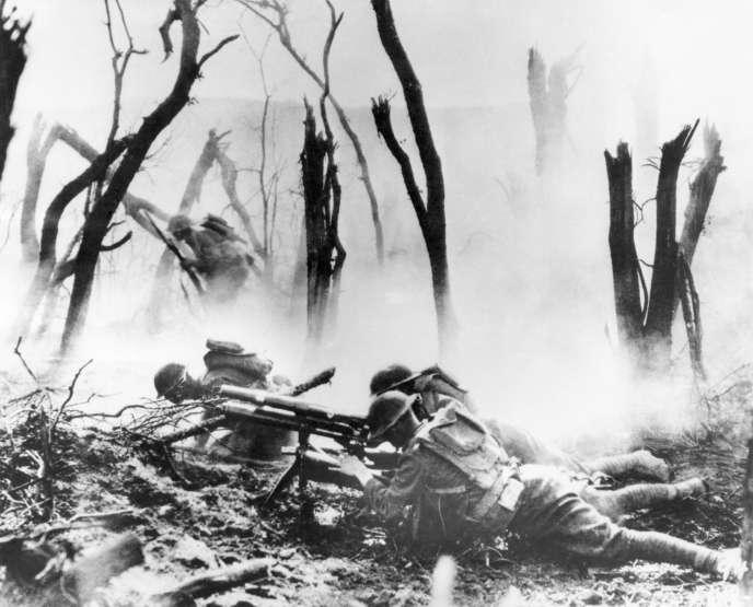 Image d'archive de la bataille deMeuse-Argonne.