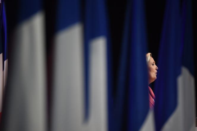 Marine Le Pen, le 23 septembre à Mantes-la-Ville.