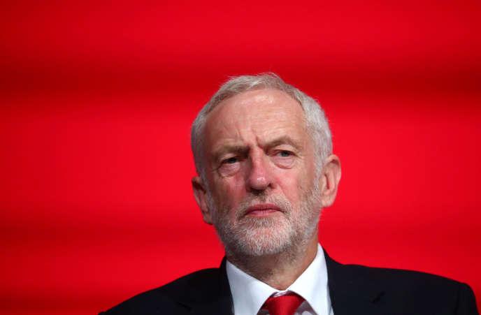 Jeremy Corbyn, lors du congrès du Parti travailliste, dimanche 23 septembre.