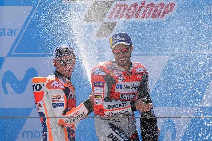 Marc Marquez (Honda) a remporté le Grand Prix d'Aragon, dimanche 23 septembre.