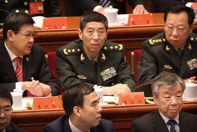 Li Shangfu, directeur du département de l'armée chinoise chargé des acquisitions d'armements, en octobre 2017 à Pékin.