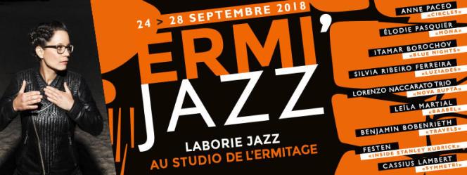 Affiche du festival Ermi Jazz, avec les artistes du label Laborie Jazz.