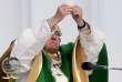 Le pape François célèbre la messe à Kaunas, deuxième ville de Lituanie, le23septembre 2018.